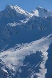 Pico de Negoiu en invierno Imagenes de archivo