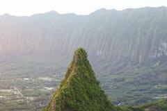 Pico de Olomana Foto de archivo
