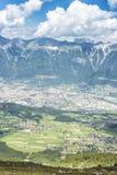 Pico de Patscherkofel cerca de Innsbruck, el Tyrol, Austria Imagen de archivo libre de regalías