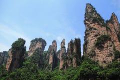 Pico de pedra, Zhangjiajie, China Imagens de Stock Royalty Free