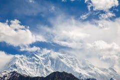 Pico de Rakaposi Foto de archivo libre de regalías