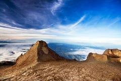 Pico de San Juan en el montaje Kinabalu Imágenes de archivo libres de regalías