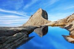 Pico de San Juan en el montaje Kinabalu Fotos de archivo libres de regalías