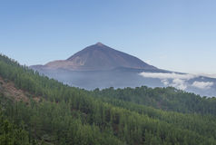 Pico de teide, mountain above the clouds, Tenerife, Spain Stock Image