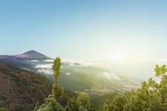 Pico de teide, mountain above the clouds, Tenerife, Spain Royalty Free Stock Photo