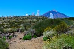 Pico de Teide, Observatorium, stockfotografie