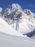 Pico de Valfredda Fotos de archivo libres de regalías