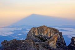 Pico de Victoria's do Monte Kinabalu Imagem de Stock