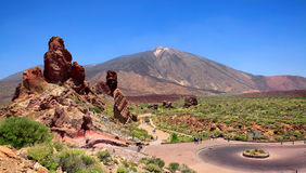 Pico del泰德峰,特内里费岛,西班牙 免版税图库摄影