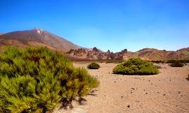Pico del泰德峰,特内里费岛,西班牙 图库摄影