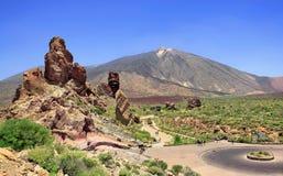 Pico del泰德峰,特内里费岛,西班牙 库存照片