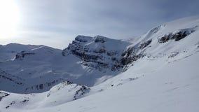 Pico del buitre y el glaciar del arco Fotografía de archivo