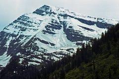 Pico del cielo en nieve del verano fotografía de archivo libre de regalías