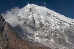 Pico del lirung de Langtang Parque nacional de Langtang fotografía de archivo