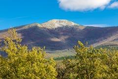 Pico del ³ n de Ocejà en Sierra de Ayllon, Guadalajara, España Fotos de archivo libres de regalías