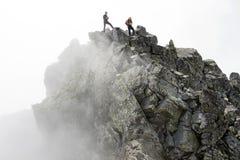 Pico del peligro de la montaña Imagen de archivo libre de regalías