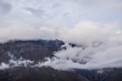 Pico del soporte en nubes Imágenes de archivo libres de regalías