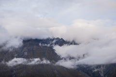 Pico del soporte en nubes Fotos de archivo