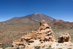 Pico del Teide - τοπίο βουνών - Tenerife, Ισπανία Στοκ φωτογραφίες με δικαίωμα ελεύθερης χρήσης