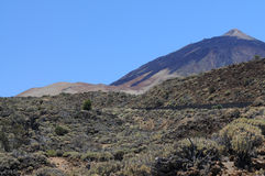 Pico del Teide. On Teneriffa island stock images