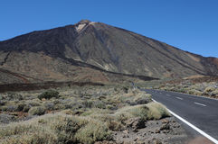 Pico del Teide. On teneriffa island stock photography