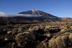 Pico del Teide. Snowcapped Pico del Teide, Tenerife, Spain´s highest mountain stock image
