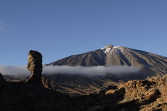 Pico del Teide. Snowcapped Pico del Teide, Tenerife, Spain´s highest mountain Royalty Free Stock Images
