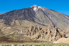 Pico del Teide And Los Roques, Tenerife, Spain Stock Images