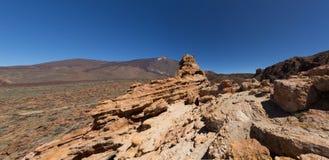 Pico del Teide - paesaggio della montagna - Tenerife, Spagna Fotografia Stock Libera da Diritti