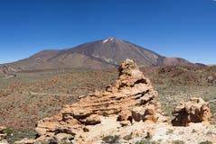 Pico del Teide - paesaggio della montagna - Tenerife, Spagna fotografie stock libere da diritti