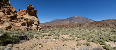 Pico del Teide - paesaggio della montagna - Tenerife, Spagna Fotografia Stock