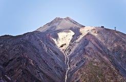Pico del Teide som ses från söder i den Tenerife ön royaltyfri foto
