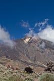Pico del Teide, Tenerife, hoogste berg van Spanje Tenerife, Canarische Eilanden royalty-vrije stock foto