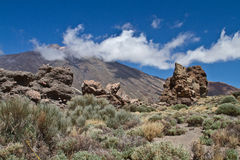 Pico del Teide, Tenerife, hoogste berg van Spanje Tenerife, Canarische Eilanden stock foto