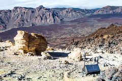 Pick of the Teide volcano in Tenerife. Pico del Teide in Tenerife, Islas Canarias, Spain. View from the down stock photo