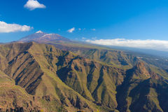 Pico del Teide with Teno mountains, Tenerife, Spain Stock Photos