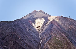 Pico del Teide visto do sul na ilha de Tenerife Foto de Stock Royalty Free