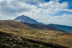 Pico del Teide vulkaniskt landskap Royaltyfri Fotografi