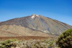 Pico del Teide vulkanmaximum i Tenerife, kanariefågelöar royaltyfria bilder