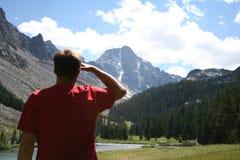 Pico del Whitetail de la aventura a continuación -, Montana Imágenes de archivo libres de regalías