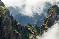 Pico do Areeiro mountain pass, Madeira Stock Photos