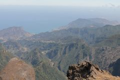 Pico do Areeiro mountain Royalty Free Stock Photos