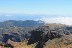 Pico do Areeiro mountain Stock Photo