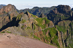 Pico Do Arieiro αιχμή Βουνά της Μαδέρας Στοκ φωτογραφία με δικαίωμα ελεύθερης χρήσης
