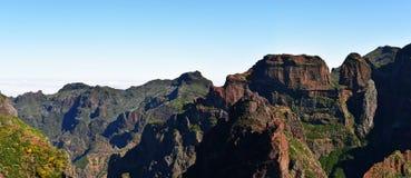 Pico Do Arieiro αιχμή Βουνά της Μαδέρας Στοκ εικόνα με δικαίωμα ελεύθερης χρήσης