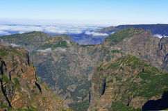 Pico Do Arieiro αιχμή Βουνά της Μαδέρας Στοκ Εικόνες