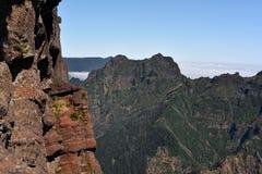 Pico Do Arieiro αιχμή Βουνά της Μαδέρας Στοκ Εικόνα