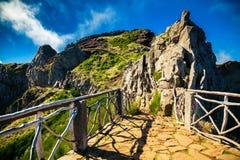 Pico do Arieiro περιβάλλουσες περιοχές Στοκ φωτογραφία με δικαίωμα ελεύθερης χρήσης