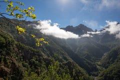 Pico do Arieiro που βλέπει από την άποψη Balcoes, Ribeiro Firo, Μαδέρα Στοκ φωτογραφία με δικαίωμα ελεύθερης χρήσης