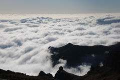 Pico do arieiro. Clouds around pico do arieiro Royalty Free Stock Photo